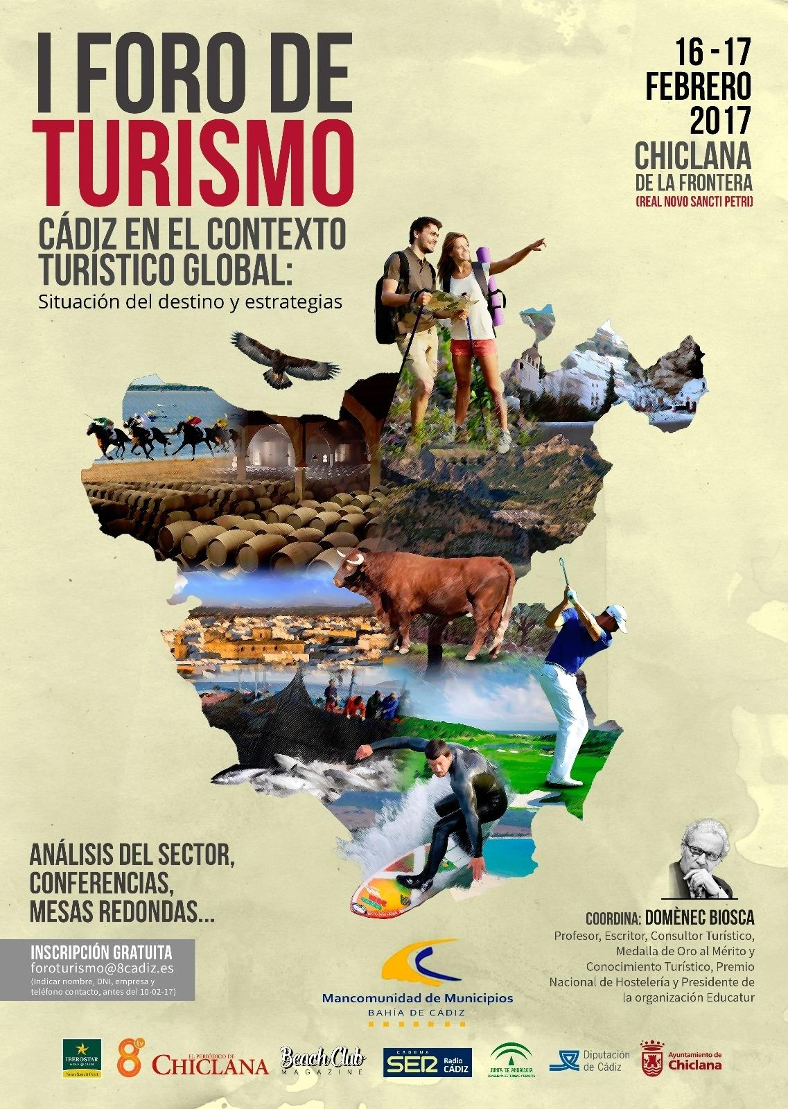 """I FORO TURISMO """"Cádiz en el contexto turístico global: situación del destino y estrategias"""""""