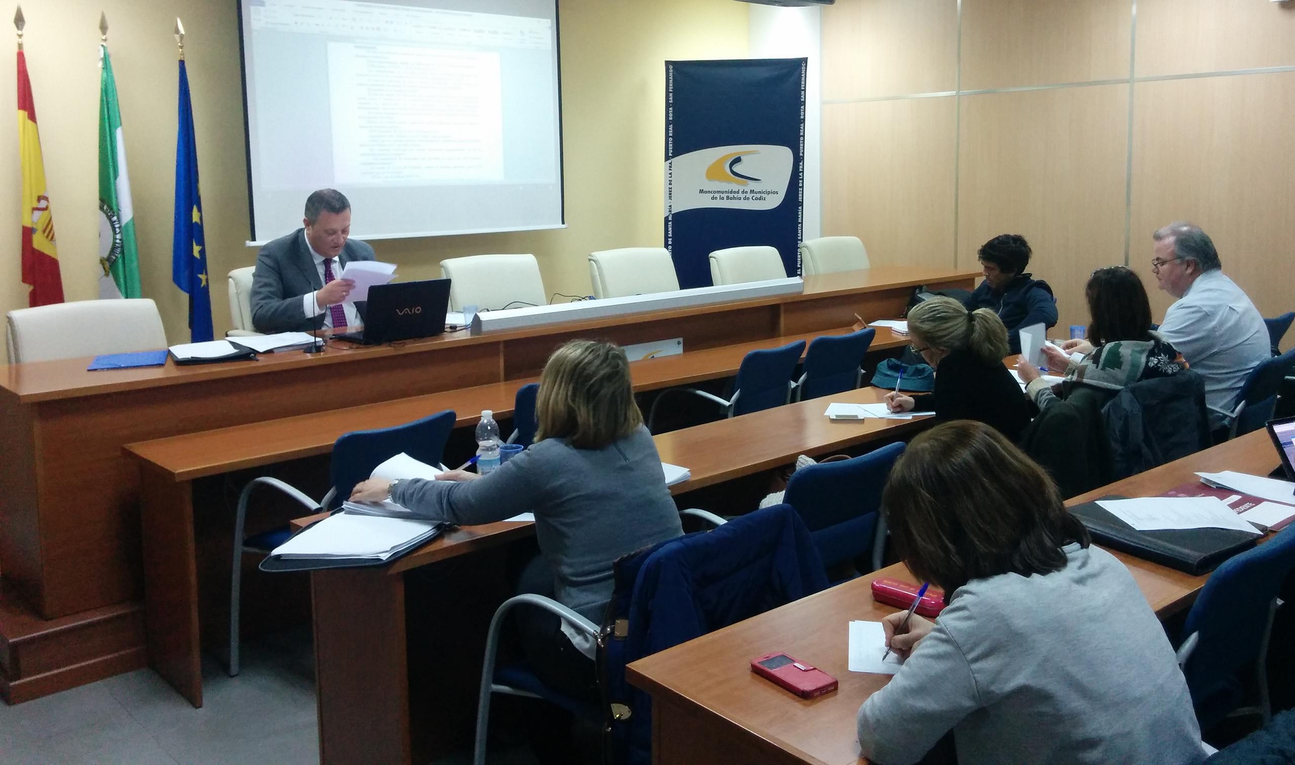 Celebración de Mesas de Trabajo del Colegio del Interventores, Secretarios y Tesoreros de Administración Local en la sede de la Mancomunidad Bahía de Cádiz